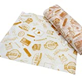 50 PCS Baking Parchment Oil-Proof Paper Hamburg Wrapper Candy Wrapper 25X21.8 CM