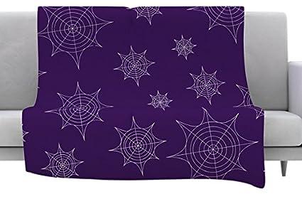 Amazon.com: KESS InHouse Original Mini Webs Purple Fleece ...