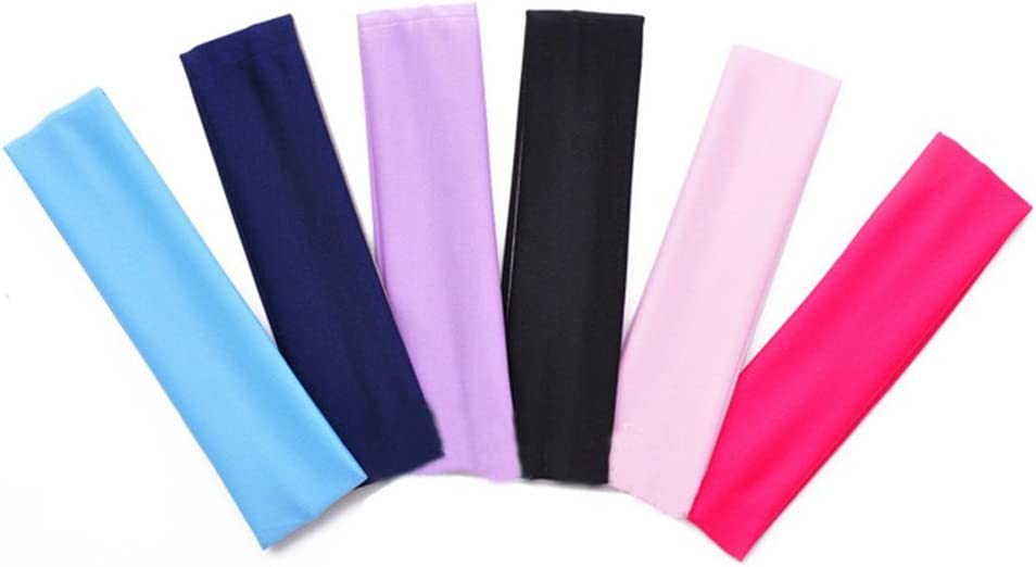 black black size 20*5 cm Aikesi 2pcs Yoga Headband Sports Running Headbands Stretch Headband