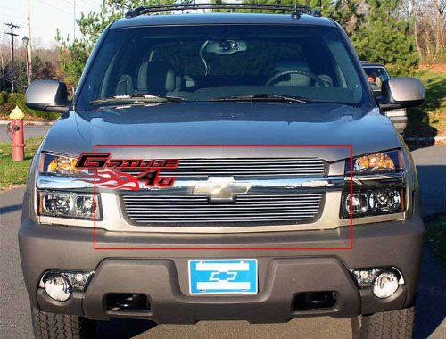 APS Fits 2001-2006 Chevy Avalanche Main Upper Billet Grille Insert #C65329A - Chevrolet Avalanche Billet