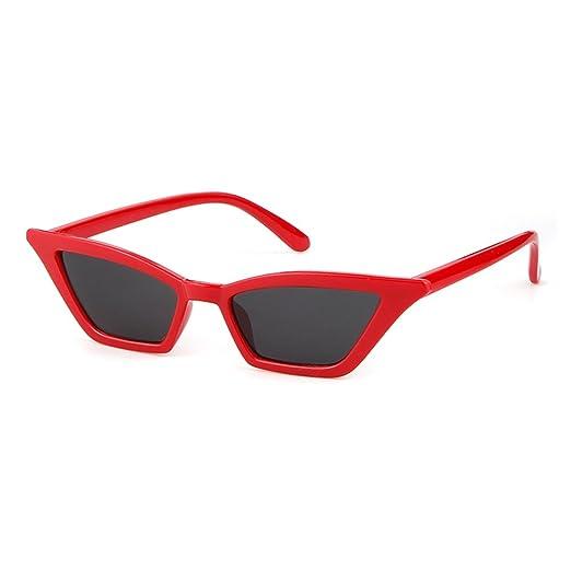 a93803a3d71a1 Amazon.com  Vintage Cat Eye Sunglasses for Women Retro Small Designer Shades  Eyewear(Red Grey)  Clothing