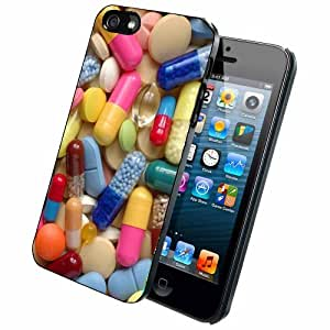 Colorful Pills - Case Back Cover (iPhone 5/5s - Rubber)