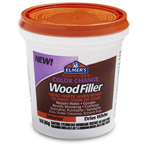 Elmer's Carpenter's Color Change Wood Filler, 16 oz., White (E917)