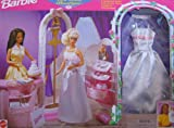 Barbie Bridal Boutique Playset w Gown & Veil Included (1998 Arcotoys, Mattel)