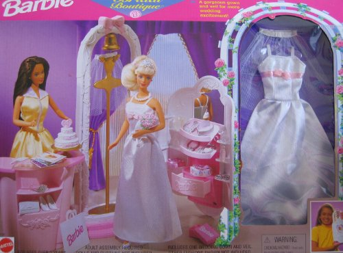 Barbie Bridal Boutique Playset w Gown & Veil Included (1998 Arcotoys, Mattel) by Barbie