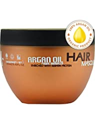 Argan Oil Hair Mask - Deep Conditioner Sulfate Free for Dry or Damaged Hair with Organic Jojoba Kernel Oil Aloe Vera Collagen and Keratin