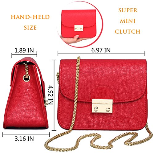 Red Black Clutch for Bag Purse Evening Red Women Shoulder Small Bag Bags Formal Chain Evening Crossbody U6nvqPzv