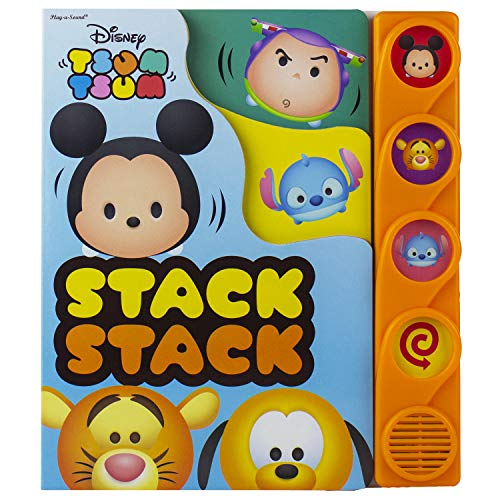 Disney - Mickey Mouse, Toy Story, and More! Tsum Tsum Stack Stack Sound Book - PI Kids