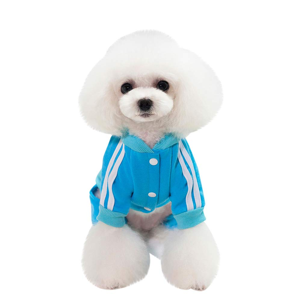 Twinsmall_Pet accessories Winter Apparel Puppy Costume,Cat Dog Coat Jacket Pet Supplies Clothes (S, Blue)