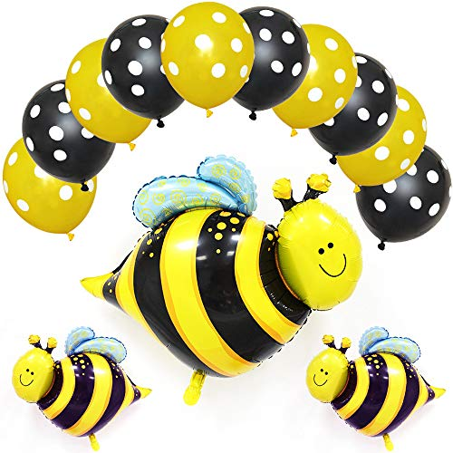 Happy Bee Day Banner Yellow Bee Balloons for Bumblebee Birthday Party Decoration Honey Bee Themed Birthday Party Baby Shower Supplies Happy Bee Day Banner (Bee Balloon) -
