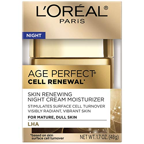 51QzLR4fUzL - L'Oreal Paris Age Perfect Cell Renewal Night Cream Moisturizer with Salicylic Acid 1.7 oz.