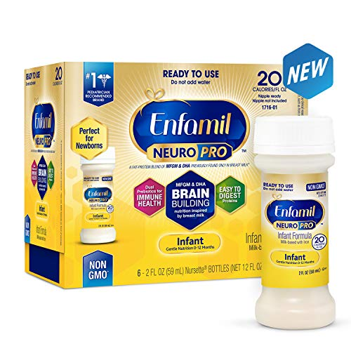 (Enfamil NeuroPro Infant Formula - Brain Building Nutrition Inspired by Breast Milk - Ready to Use Liquid, 2 fl oz (6 count))