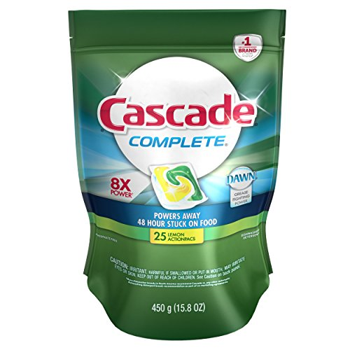 Cascade Complete ActionPacs Dishwasher Detergent Lemon Burst