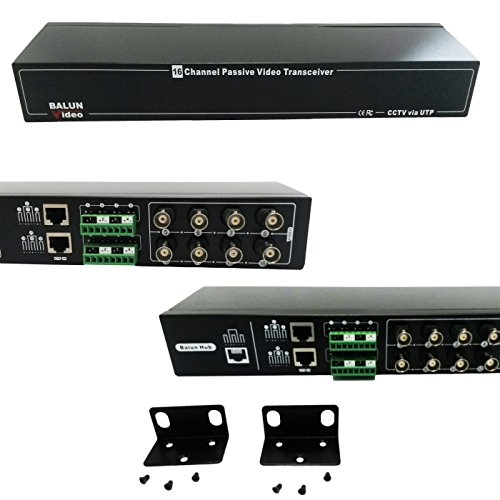 VENTECH CCTV 16ch Video Balun 16 Channel Pasive Transceiver RJ45 ()
