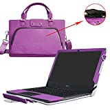 "Aspire V 13 Case,2 in 1 Accurately Designed Protective PU Leather Cover + Portable Carrying Bag For 13.3"" Acer Aspire V 13 V3-372 V3-372T series Laptop(Not fit V3-371 V3-572G V3-575T series),Purple"