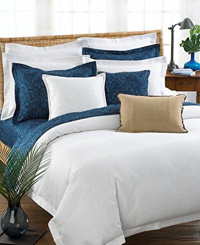 Ralph Lauren los cabos herringbone white standard pillow sham