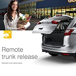 Steelmate 838N 1 Way Car Alarm System with Keyless Entry Match Central Locking System & Window Closer Anti-hijacking Remote Trunk Release with Carbon Fiber Transmitter