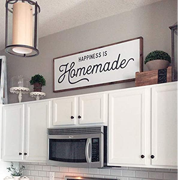 Kitchen Decor Wooden Sign Home decor happiness is homemade Homemade Sign