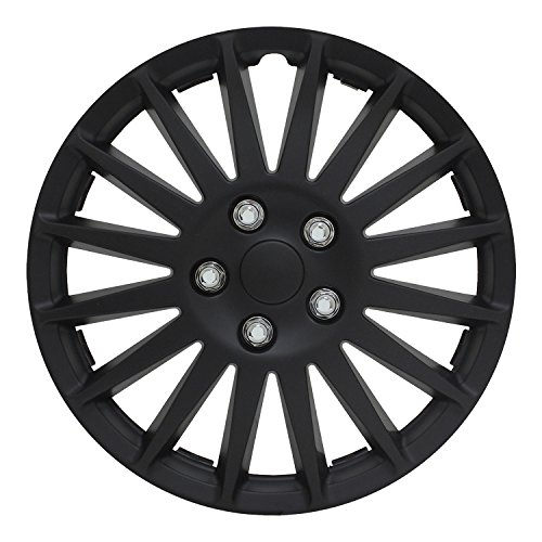 Pilot WH521-15C-BSH Universal Fit Indy All Black 15 Inch Wheel Covers - Set of 4