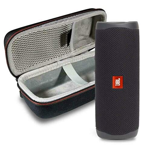 JBL Flip 5 Waterproof Portable Wireless Bluetooth Speaker Bundle with Hardshell Protective Case – Black