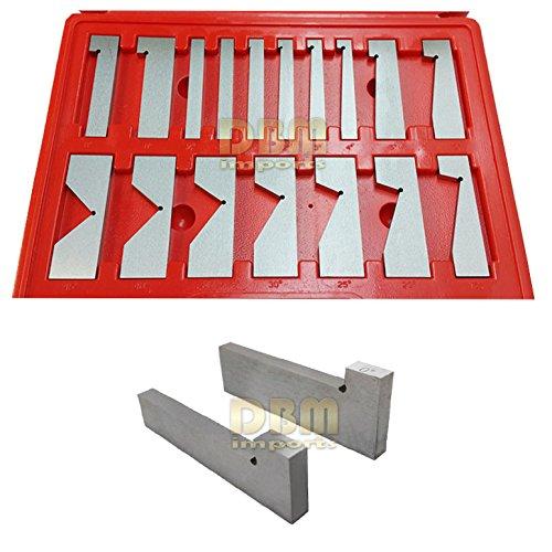 17 PCS Precise Precision V Angle Block Grinding Milling .0003 AC 1/4 - 45 (Precision Angle Plates)