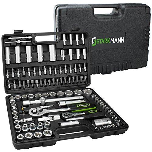 STARKMANN 108 teiliger Steckschlüssel-Satz Ratschenkasten Werkzeug-Kasten