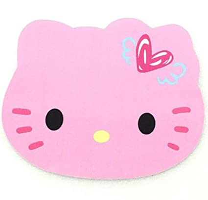 85816cdd8 Amazon.com : ATELL Hello Kitty Cute Computer Mouse Pad Anti-Slip Natural  Rubber Mousepad Pink Black Color for PC Laptop Wholesale Price (C) : Office  ...