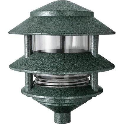 RAB Lighting LL322VG Incandescent 3 Tier Lawn Light, A-19 Type, 75W Power, 1220 Lumens, 120VAC, Verde Green