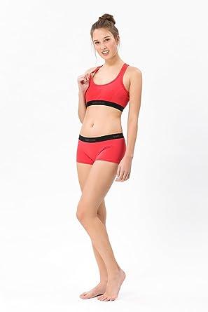 90fd9b8056ca66 super.natural Körpernahe Damen Unterhose, Mit Merinowolle, W BASE BOYFRIEND  HIPSTER 175