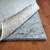 Rug Pad USA, 1/4' Thick, Felt and Rubber, 3'x5', Superior Lock- Premium Non Slip Rug Padding for Hardwood Floors