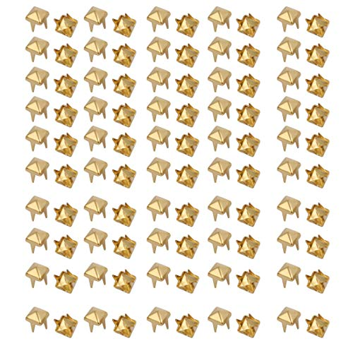 Large Square Brads - Aexit 100pcs 4mm Home Hardware Square Shaped Paper Brad Gold Tone for Scrapbooking DIY Craft Model:63as545qo338