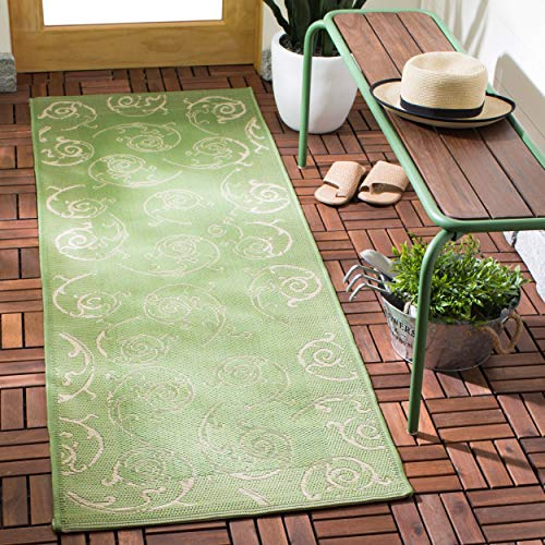 Safavieh Courtyard Collection CY2665-1E06 Olive and Natural Indoor/ Outdoor Runner (2'3