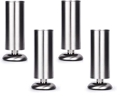 4er Adjustable Stainless Steel Table Feet Furniture Feet for Furniture Legs Table Bed...