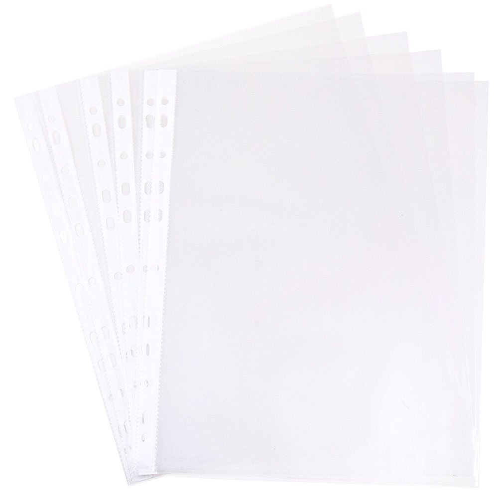 JAM Paper Sheet Protectors - Holds 216mm x 279.5mm (8 1/2 x 11) Paper - Clear - Pack of 10 Sheets 3236518865