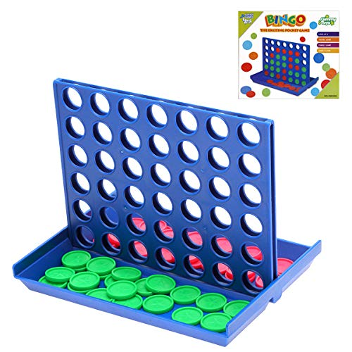 Yutin 4 in A Row Game - Four in A Row Connect Game,Classic Family Travel Board Game Line-up-4,Match 4 for Kids