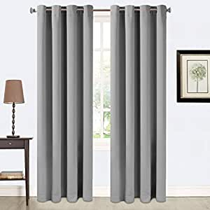 Blackout curtains 2 panles thermal insulated grommets drapes for bedroom living - Amazon curtains living room ...