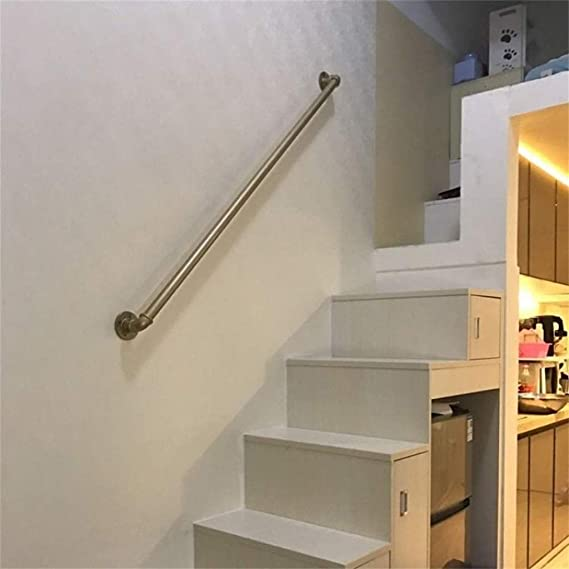 Size : 1ft Maison Contre Le Mur Int/érieur Et Ext/érieur Loft Personnes /Âg/ées Rampes Corridor Statif Main Courante Fer Bronze Industriel Pipe Main Courante for Escaliers