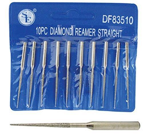 "10pc 2"" Diamond Bead Reamer Set 1/16"" x 7/8"" For Dremel Rotary Tool 1/8"""