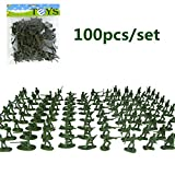 100pcs/set Army Cops Model Action Figure Collectible Toys - Green