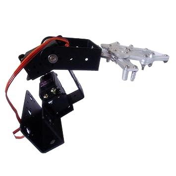 NON Sharplace Kit de Construcción de Brazo Robótico Robot Educativo Starter Soporte Garra Mecánica 3 DOF: Amazon.es: Juguetes y juegos