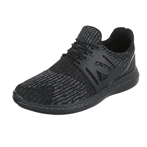 Ital-Design - Zapatillas altas Hombre negro y gris