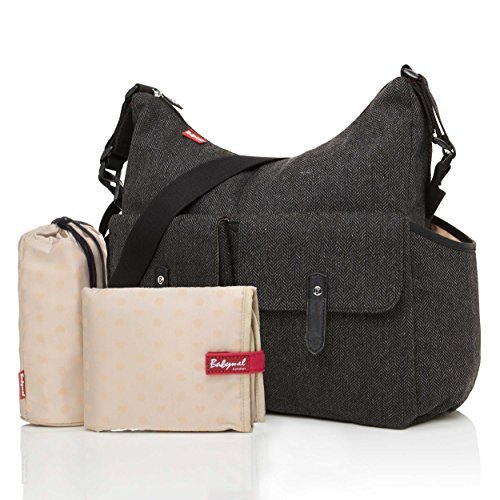 Babymel Frankie Tweed Grey Baby Changing Bag by Babymel