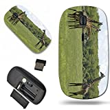 Luxlady Wireless Mouse Travel 2.4G Wireless Mice with USB Receiver, 1000 DPI for notebook, pc, laptop, computer, mac design IMAGE ID 5003417 Giraffe family in the Lake Manyara National Park Best of Ta