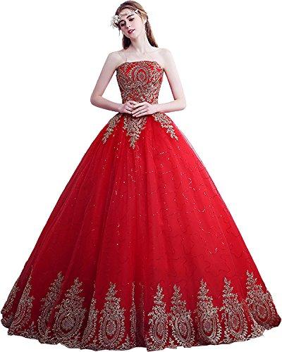 Stil G Abendkleider Ivydressing Tuell Lang Brautkleider Blumen Hochzeitskleider Hochwertig nWWgwq0Cf