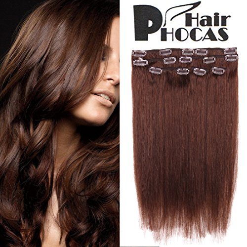 HairPhocas Human Extensions Brown Straight product image