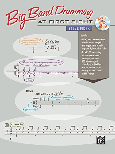 Big Band Drumming at First Sight: Book & - Bronze Cd Oiled