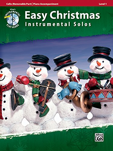 Easy Christmas Instrumental Solos for Strings, Level 1: Cello, Book & CD (Easy Instrumental Solos Series) ()