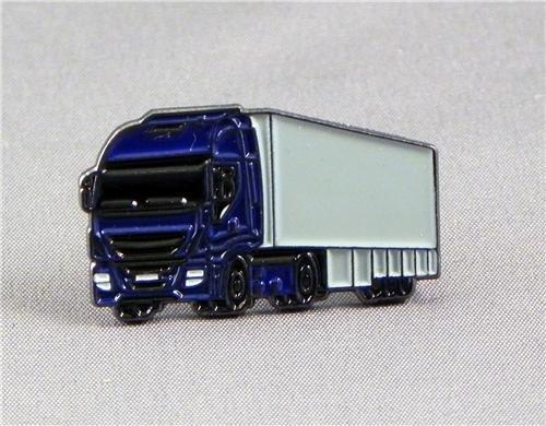 Badge à épingle en métal émaillé Bleu Haulage Camion et remorque (Camion) Mainly Metal