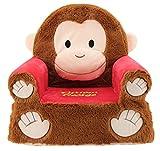 Animal Adventure 54222 Sweet Seat Plush Chair, Brown/Red