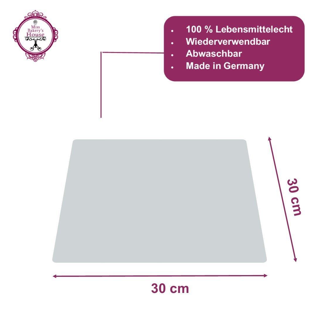 Tortenunterlage - weiß - Acryl - wiederverwendbar - rund - stabil - Kuchenplatte - Cake Board - Kuchenplatte (Ø 15 cm - rund) Miss Bakery's House